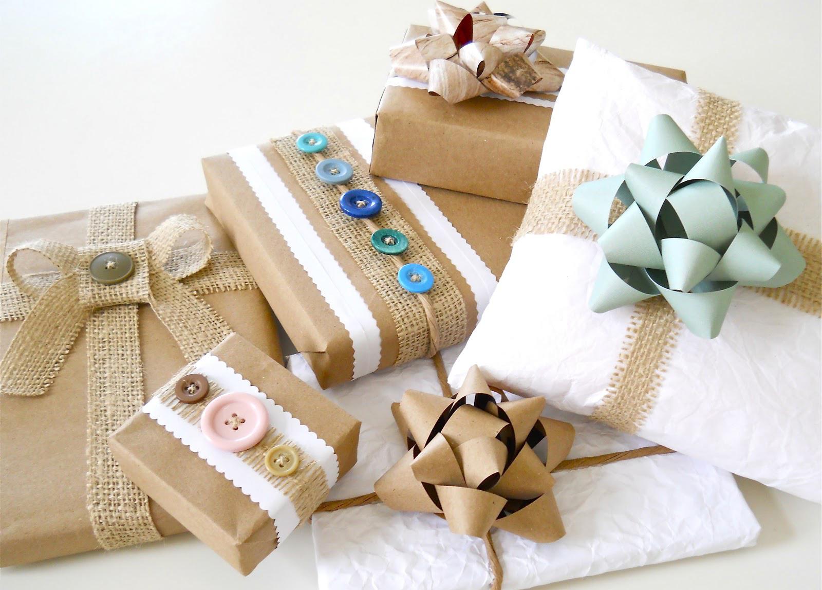 Оригинальное оформление бумажной упаковки подарков