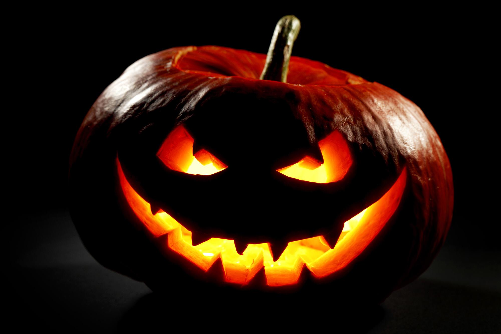 Пример тыквы на Хэллоуин