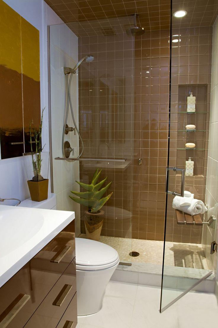 Ванная 9 кв. м коричневая