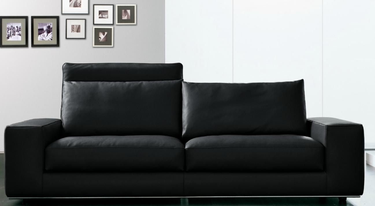 Современный дизайн кожаного дивана