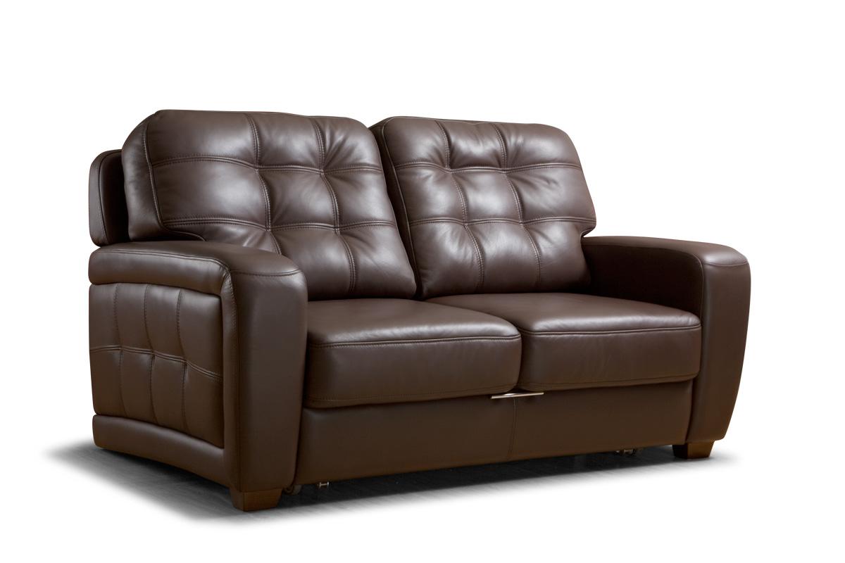 Темно-коричневый кожаный диван