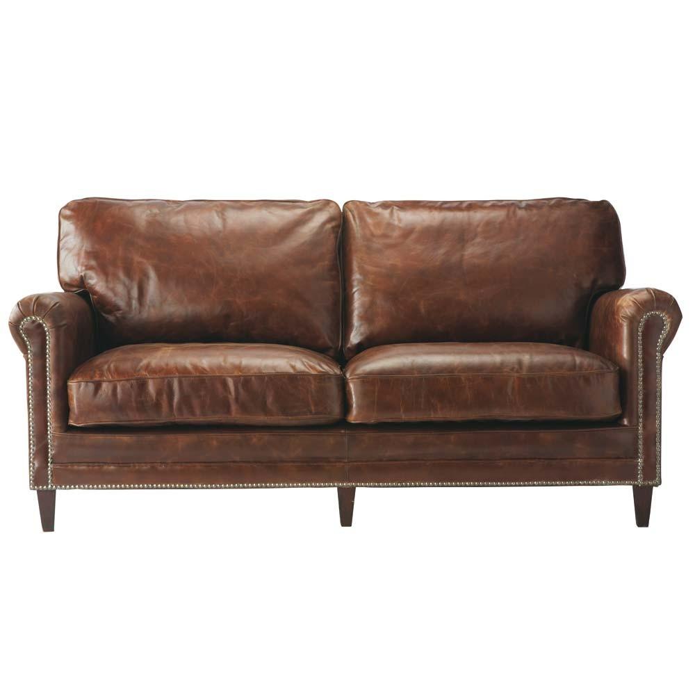 Кожаный диван на ножках