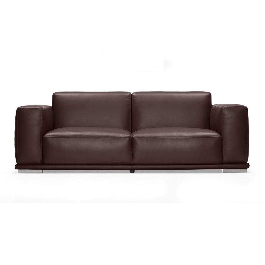 Кожаный темный диван