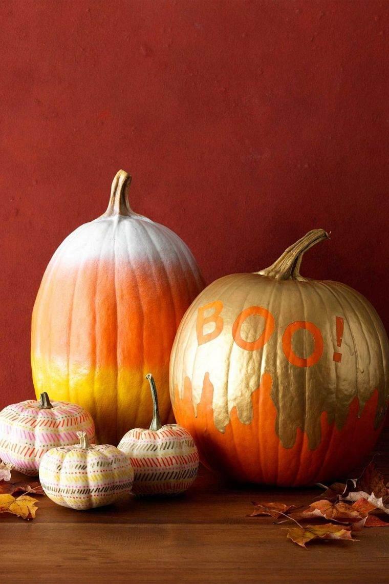 Декор тыквы на хэллоуин краской
