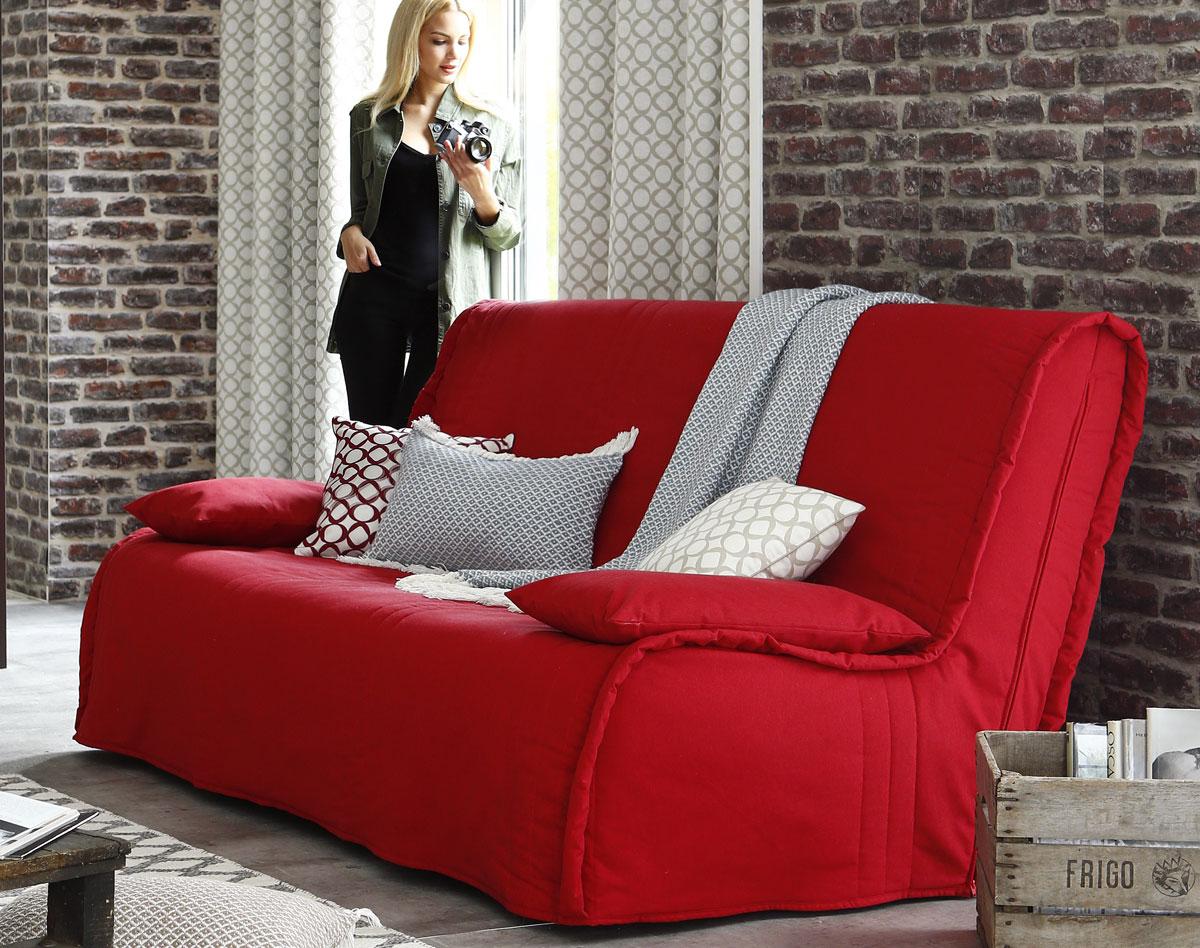 Чехол на диван красный