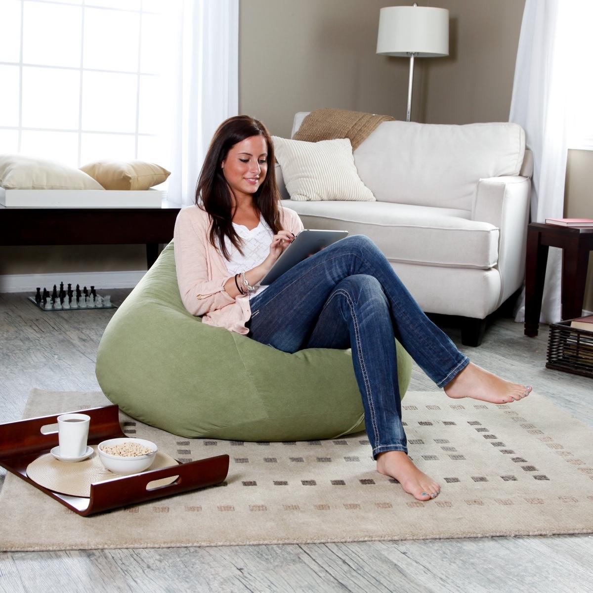 Оливковое кресло-мешок