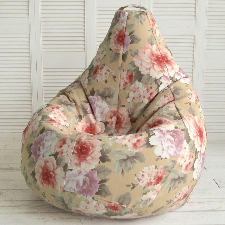 Кресло-мешок с цветочным рисунком