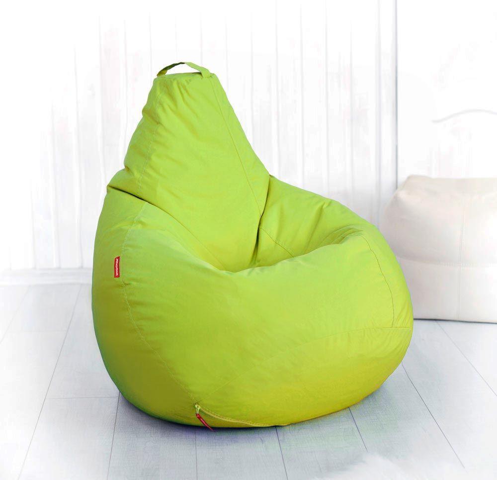 Салатовое кресло-мешок