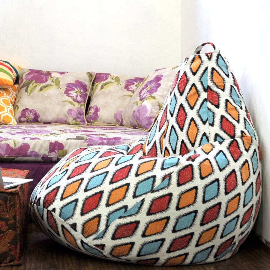 Кресло-мешок с принтом