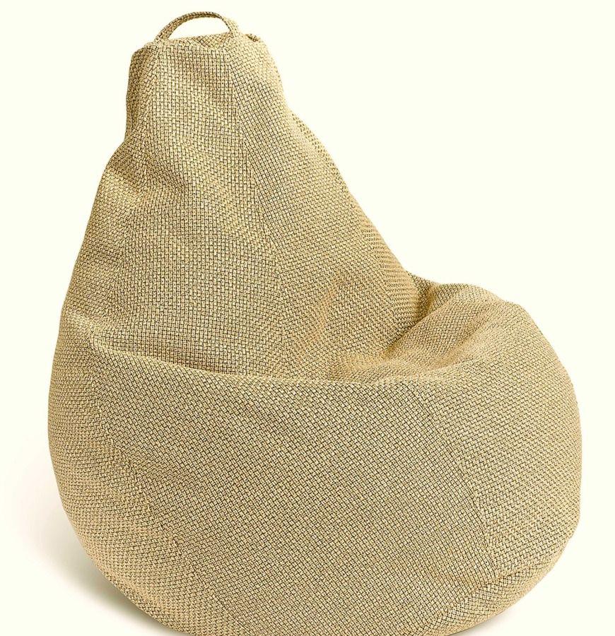 Бежевое мягкое кресло-мешок