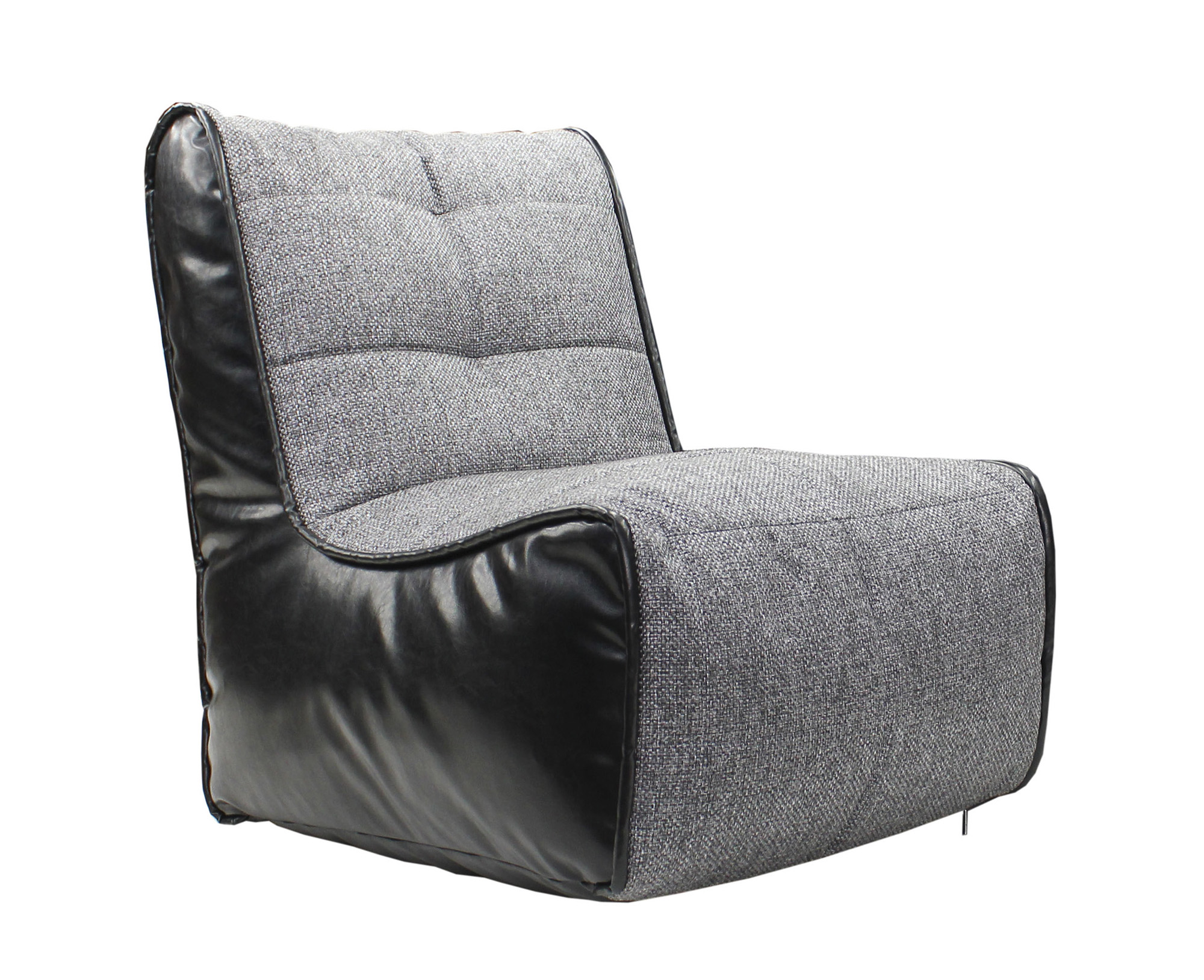 Черно-серое бескаркасное кресло