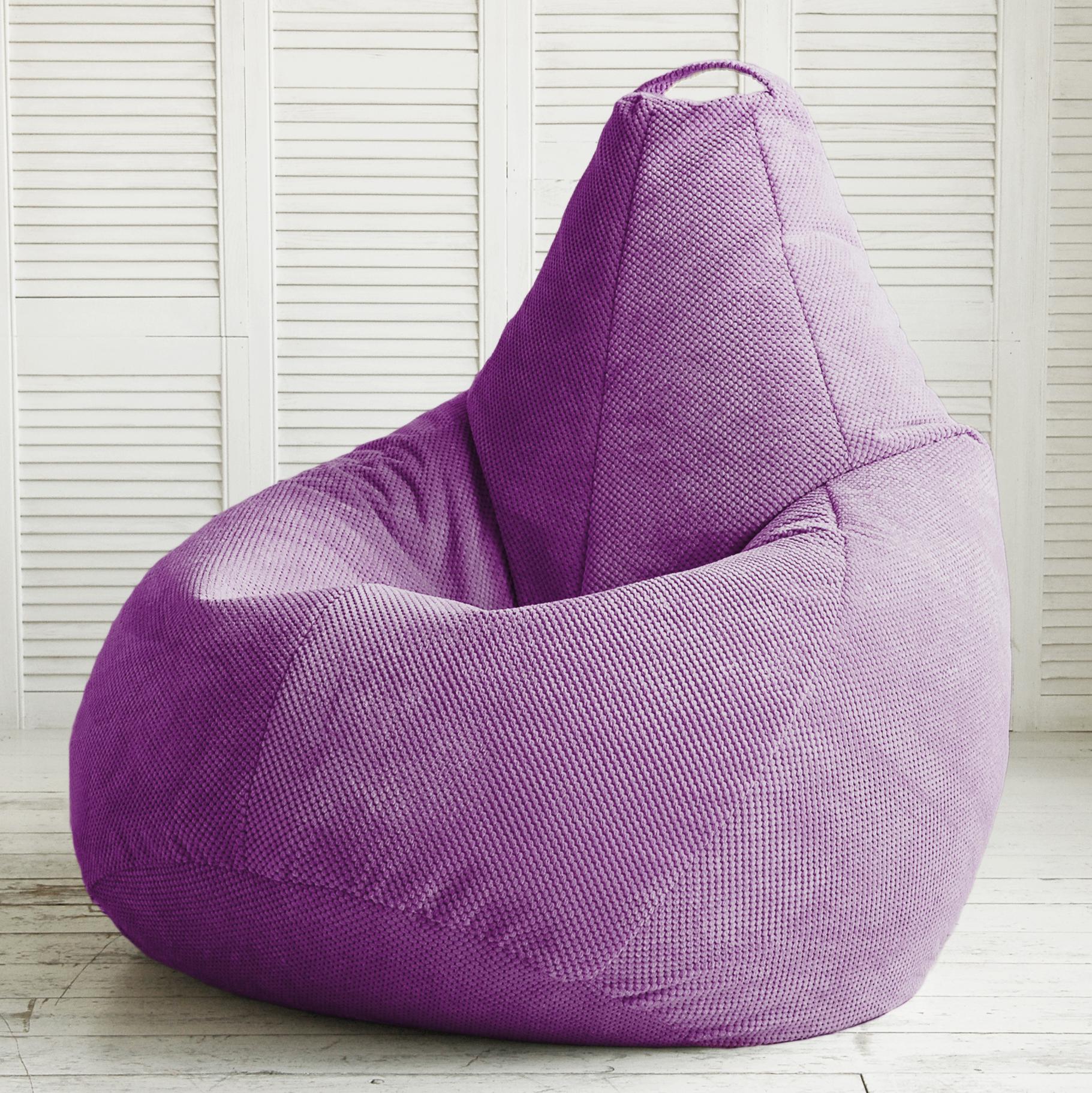 Фиолетовое кресло-мешок в интерьере