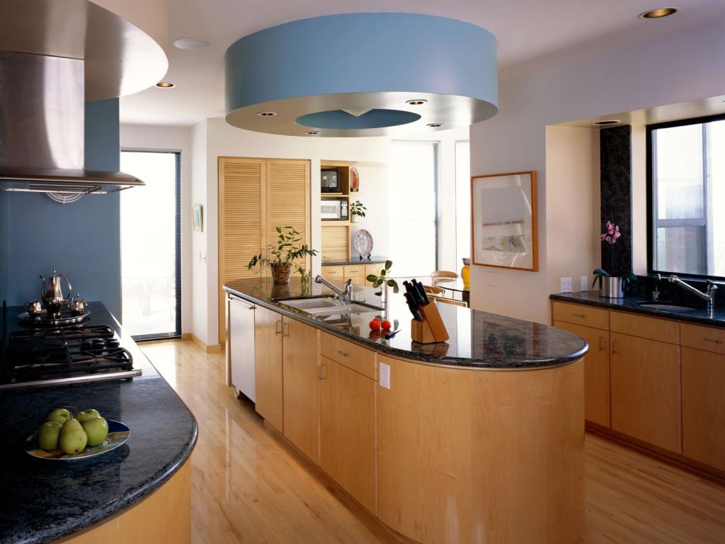Овальный остров на кухне