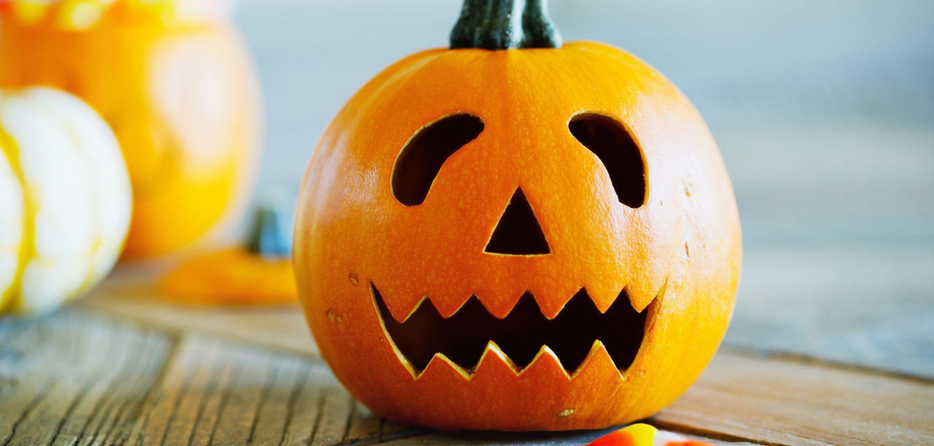 Традиционная тыква на хэллоуин
