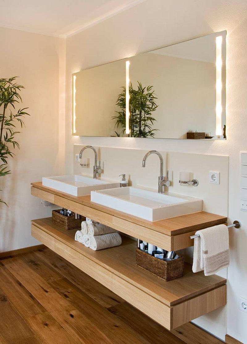 Ламинированные полки в ванной