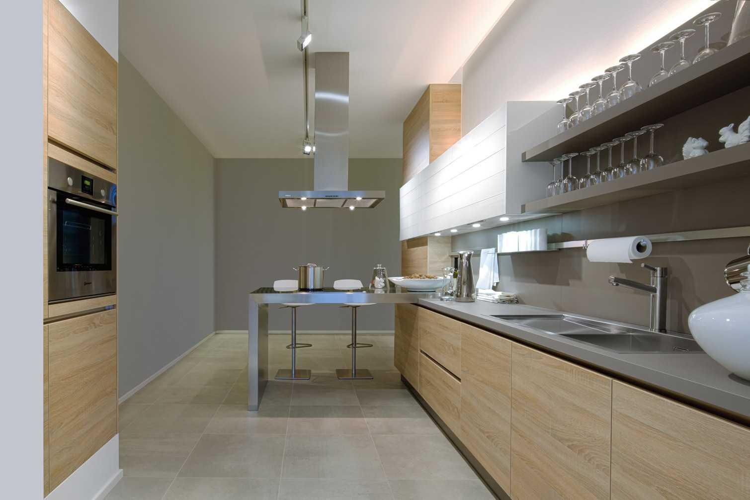 Дизайн кухни 20 кв м ламинированной