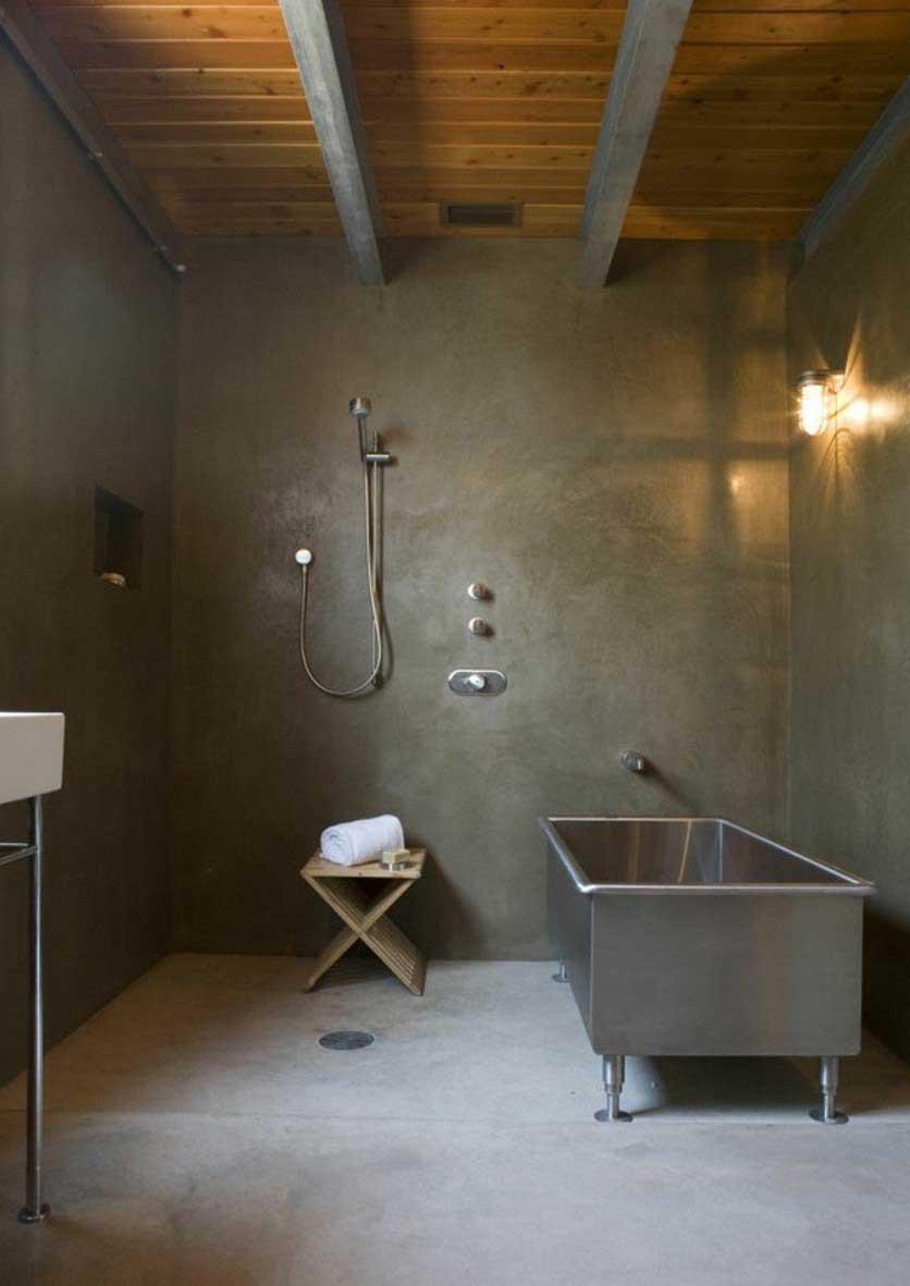 Ванная 9 кв. м в стиле лофт