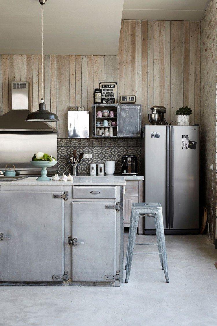 Декор лофт на кухне 14 кв. м