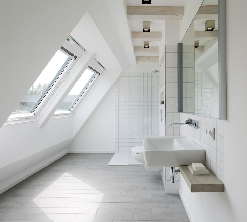 Ванная 9 кв. м на мансарде