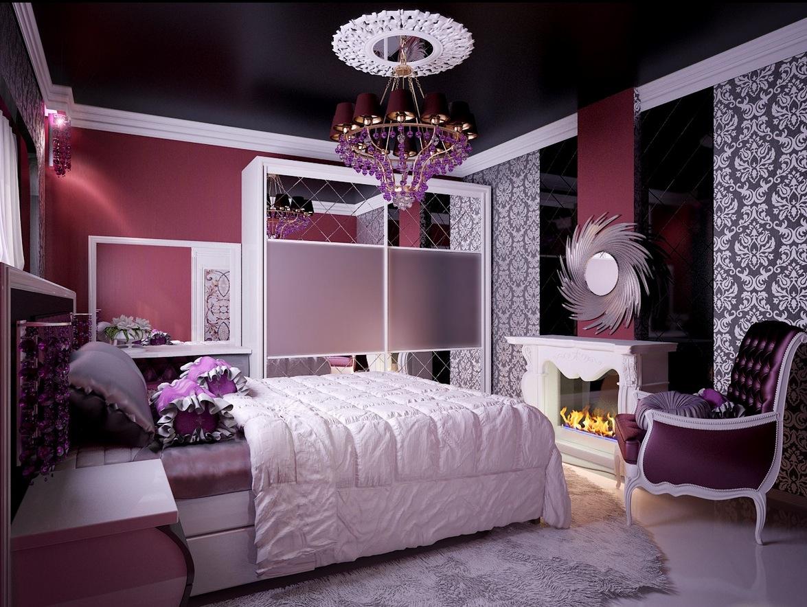 Корпусная мебель в стиле арт-деко в комнате девочки подростка