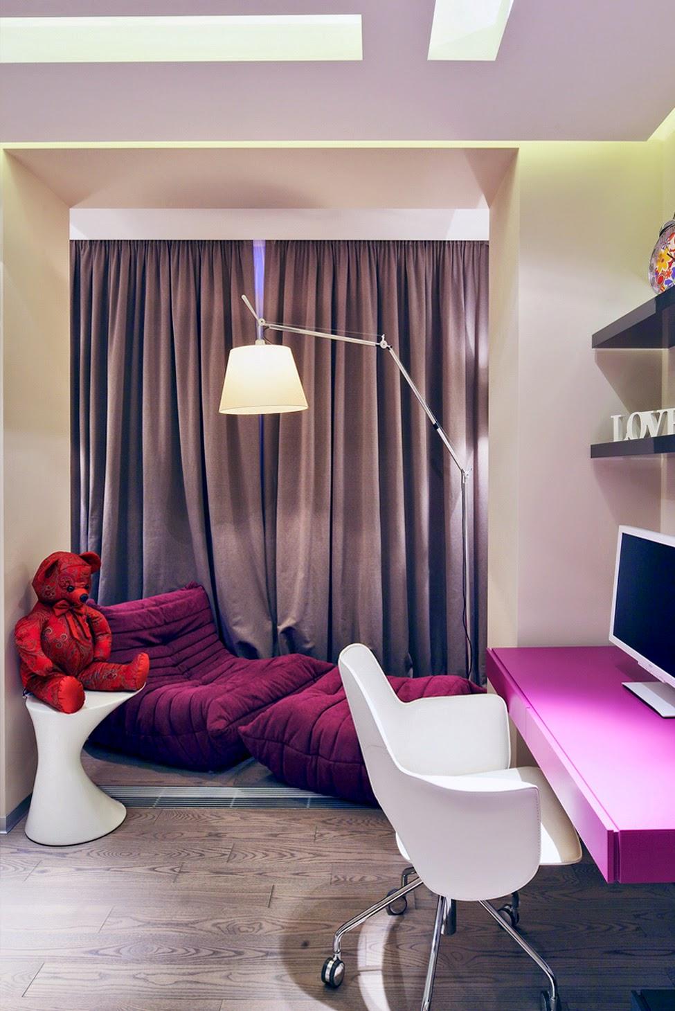 Стильная мебель в комнате девочки