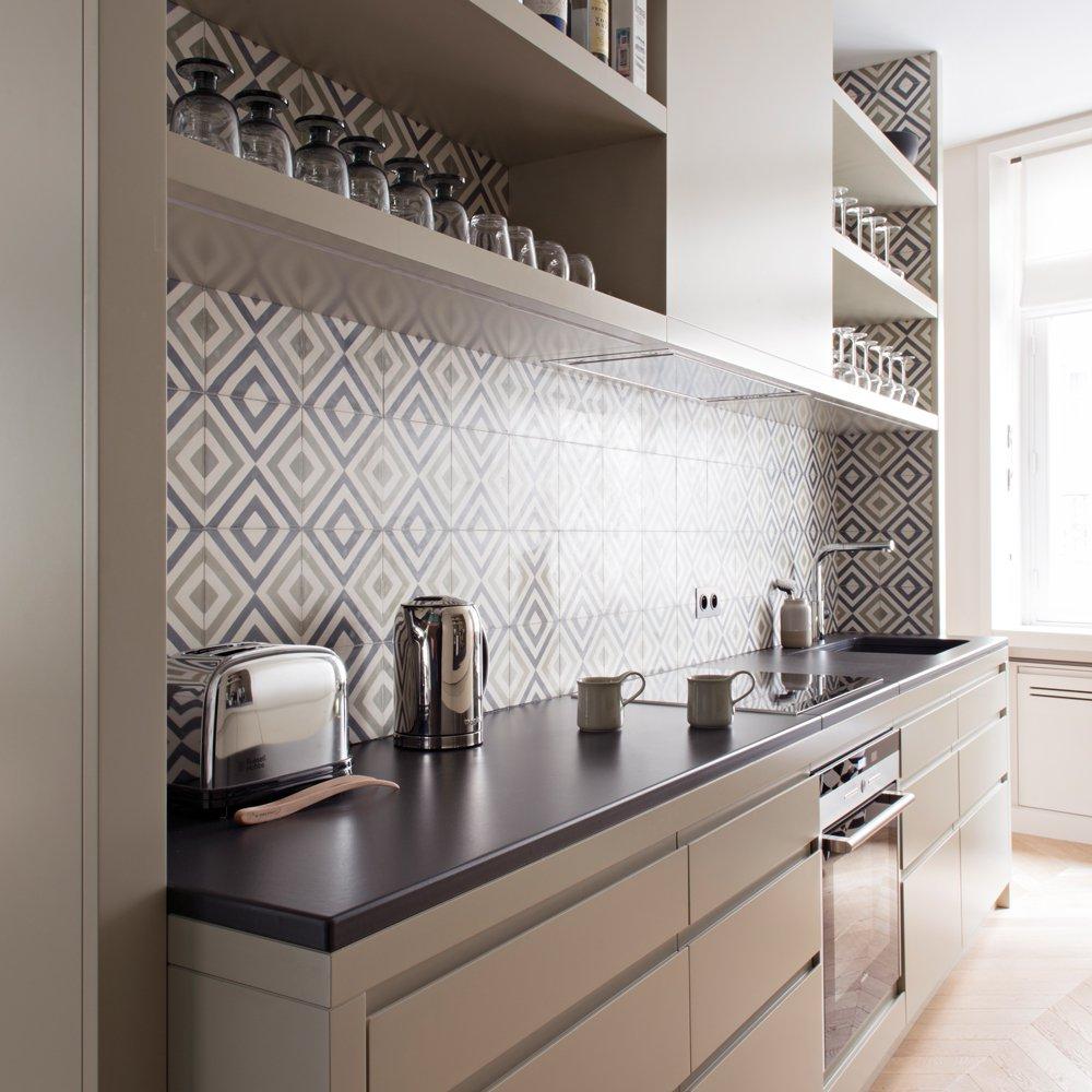 Дизайн кухни 20 кв м в нише