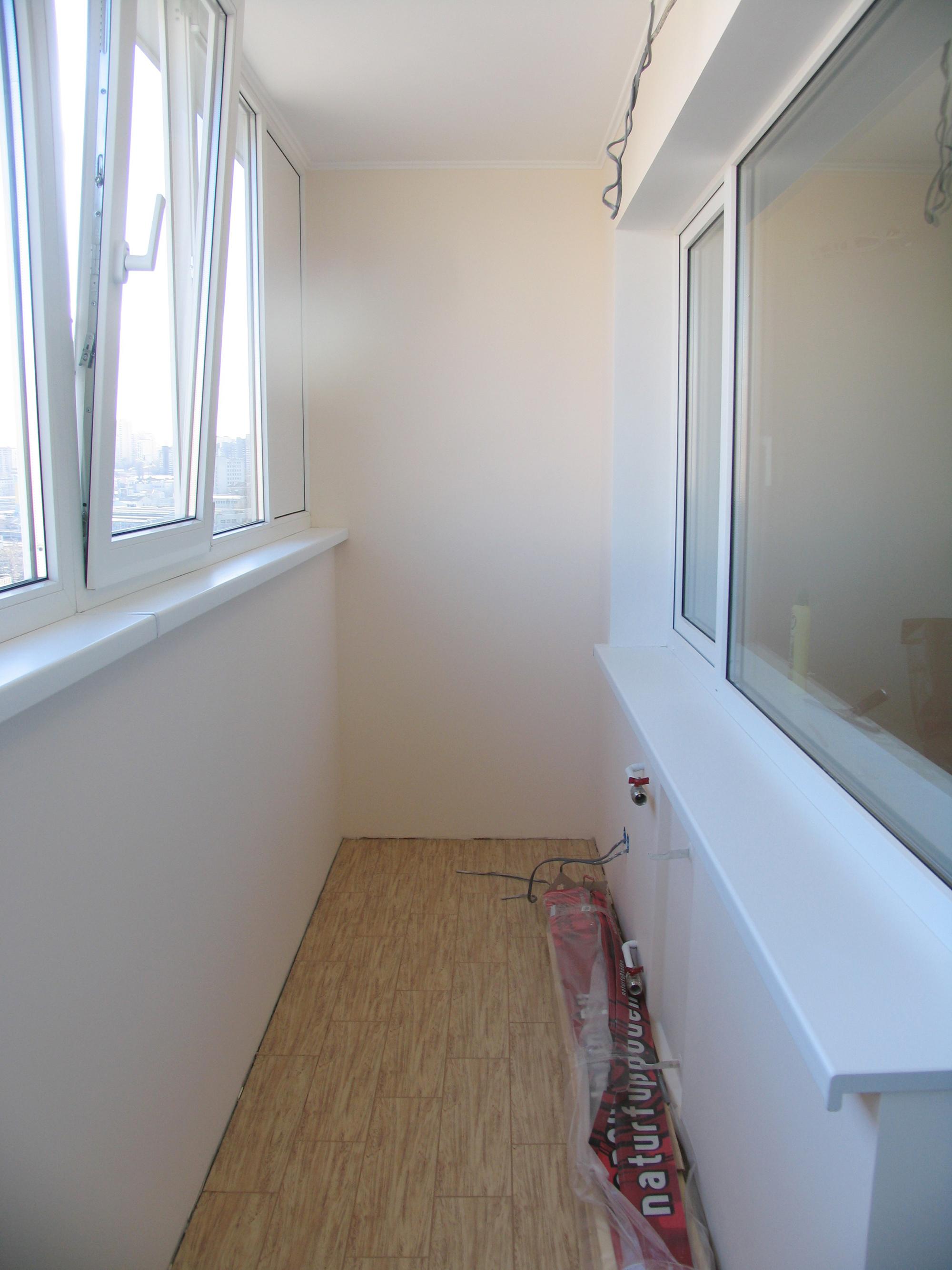 Гипсокартон в отделке балкона