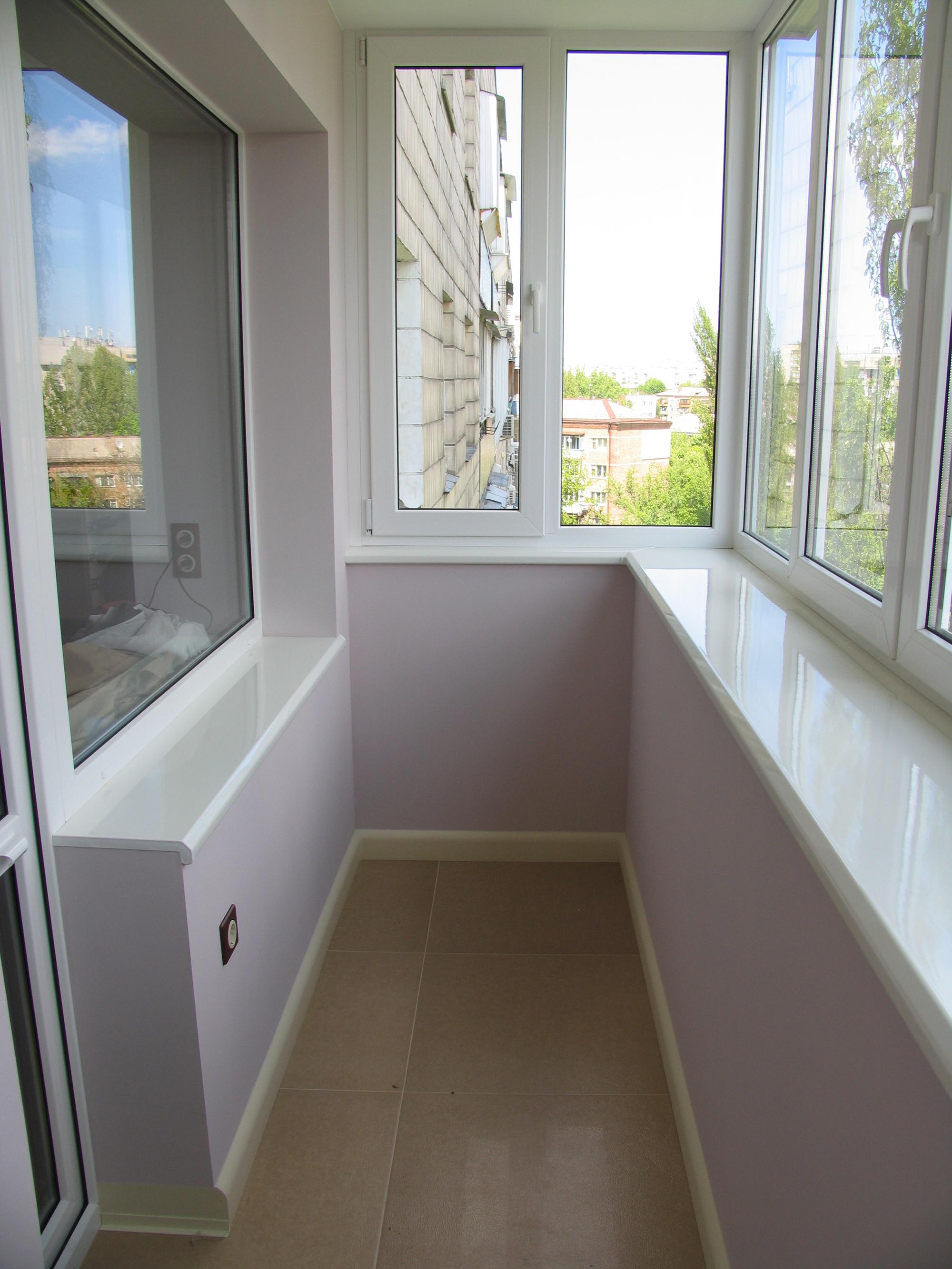 Гипсокартон в оформлении балкона