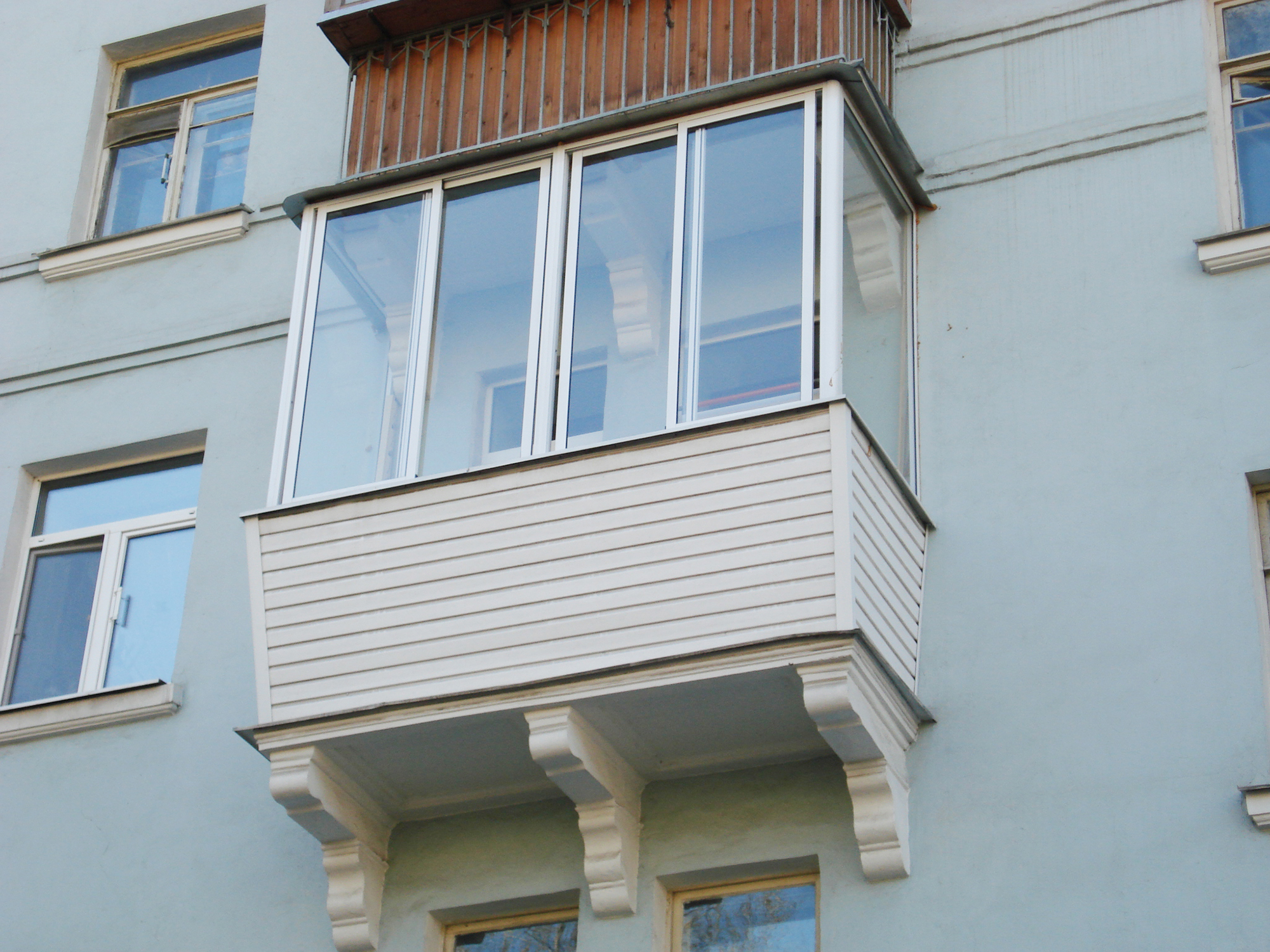 Обивка балкона алюминиевыми панелями