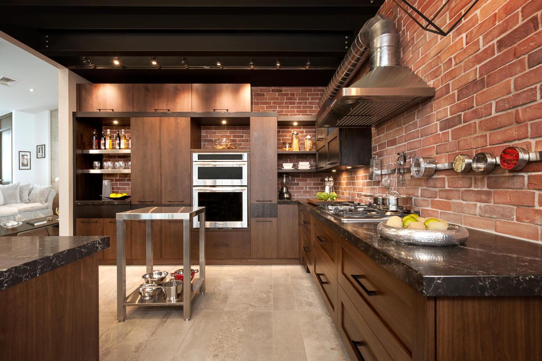 Дизайн кухни 20 кв м под орех
