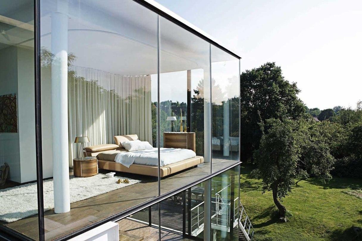 Панорамное остекление двухэтажного дома