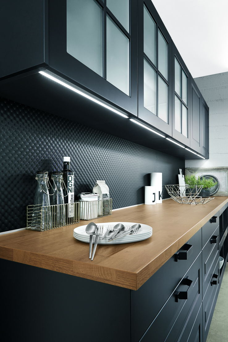 Дизайн кухни 20 кв м с подсветкой