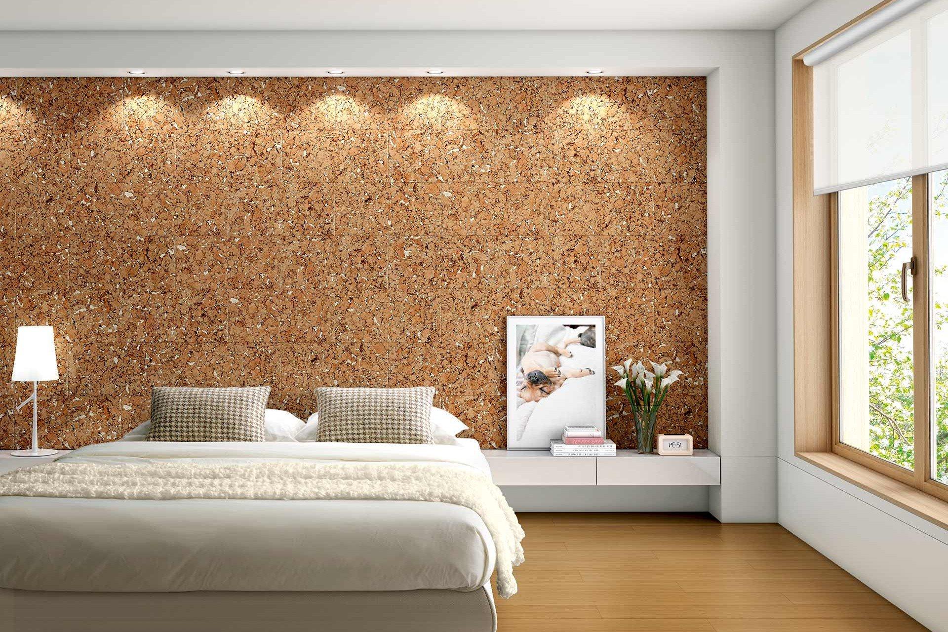 Пробковые обои в интерьере (19 фото): экологичное украшение комнаты