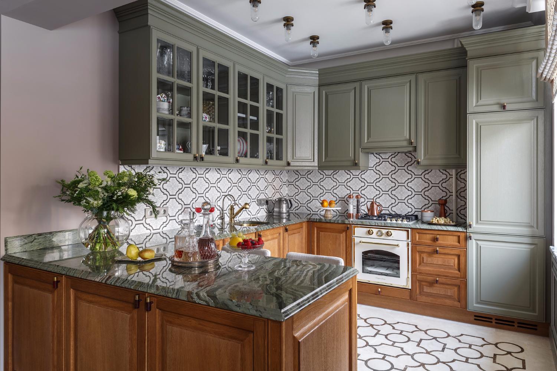 Дизайн кухни 20 кв м ретро