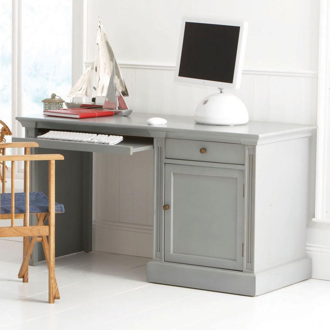 Серый стол для школьника