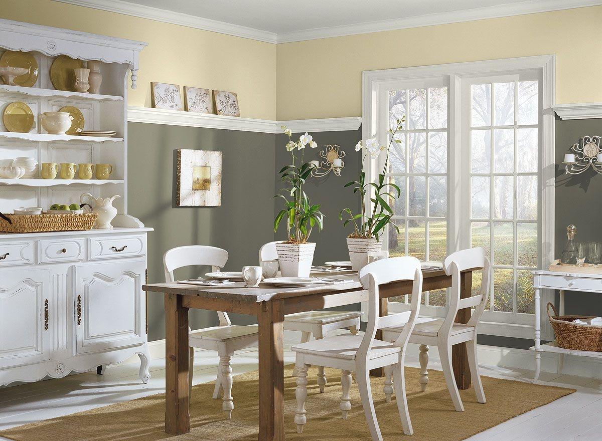 Серый и бежевый цвета в интерьере кухни