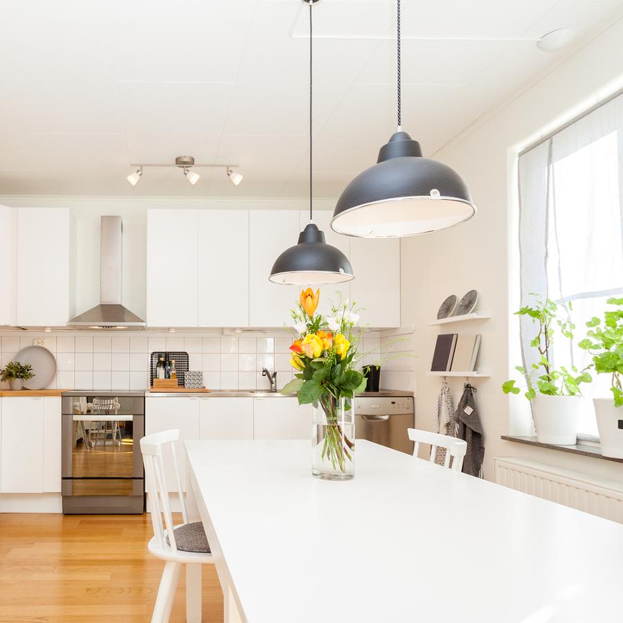 Дизайн кухни 20 кв м скандинавский