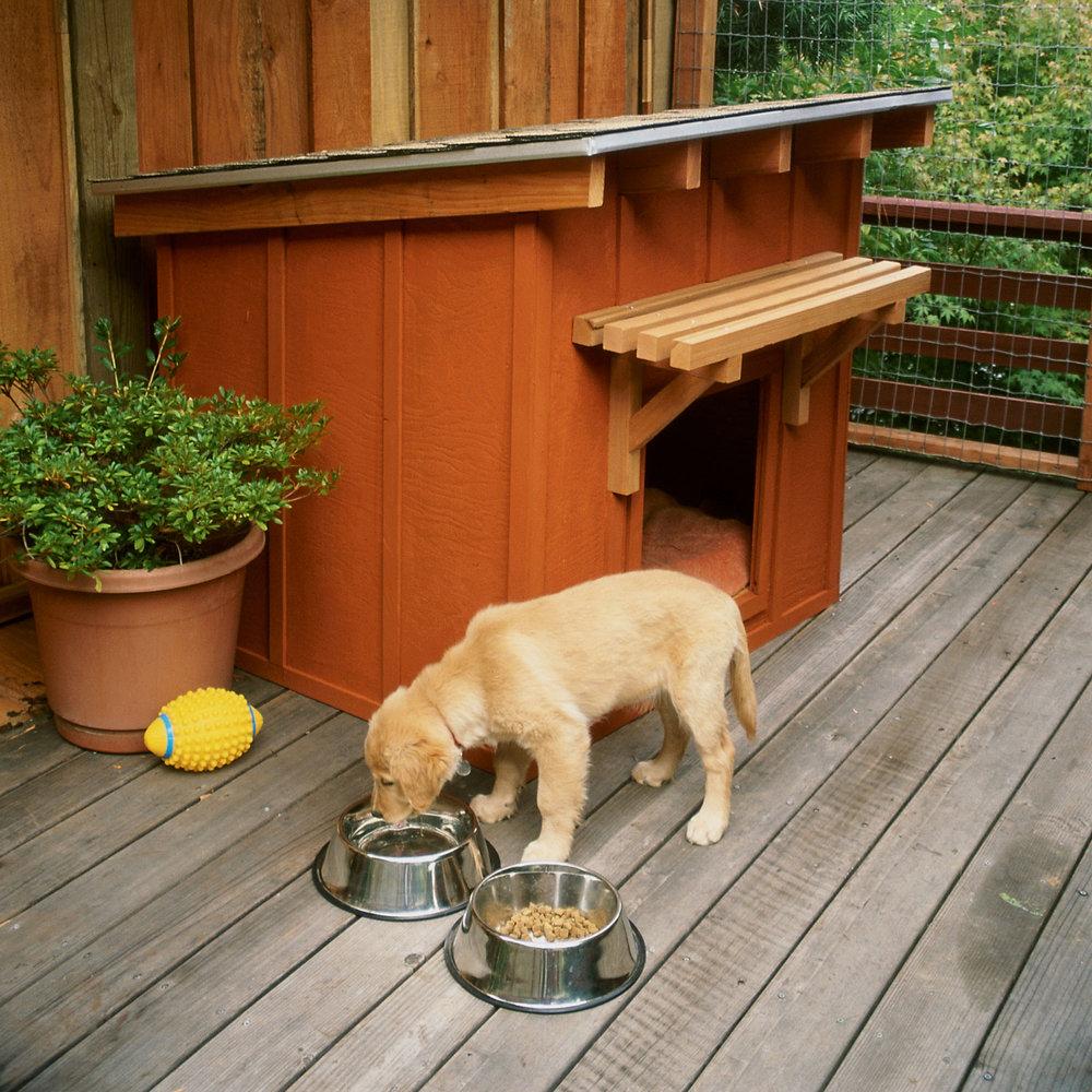 Будка для собаки со скатной крышей