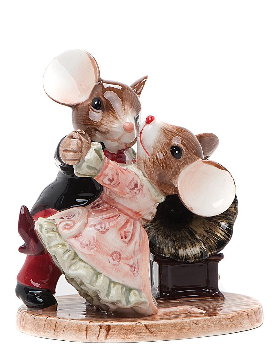 Статуэтка танцующие мыши для украшения интерьера
