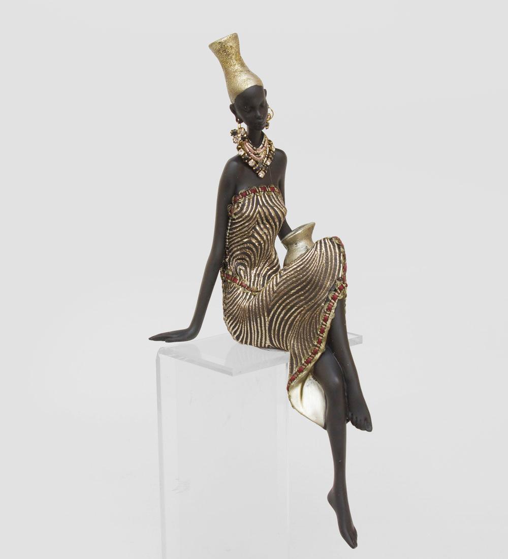 Статуэтка африканская леди для украшения дома