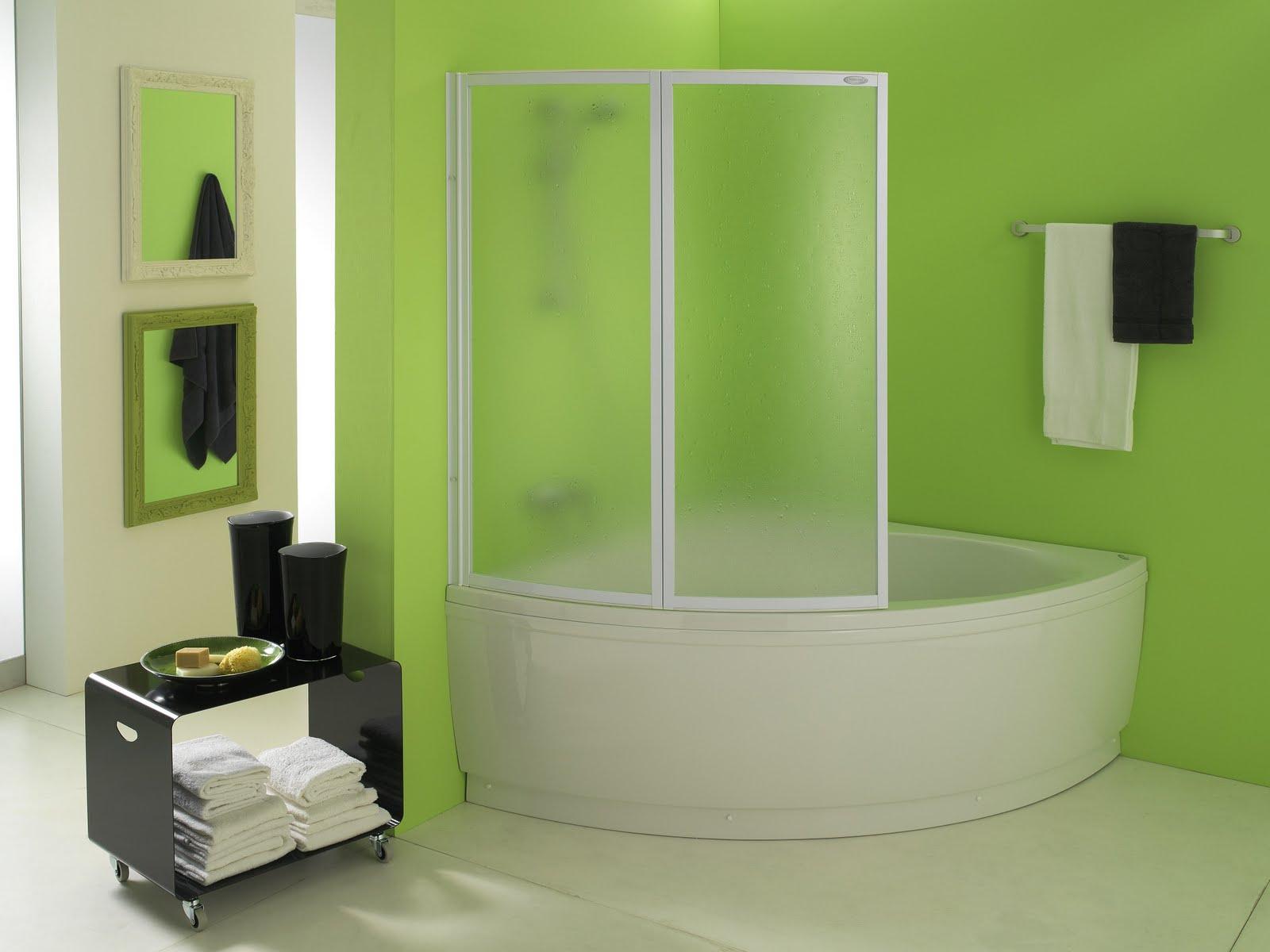 Двухсеционная стеклянная шторка для угловой ванной
