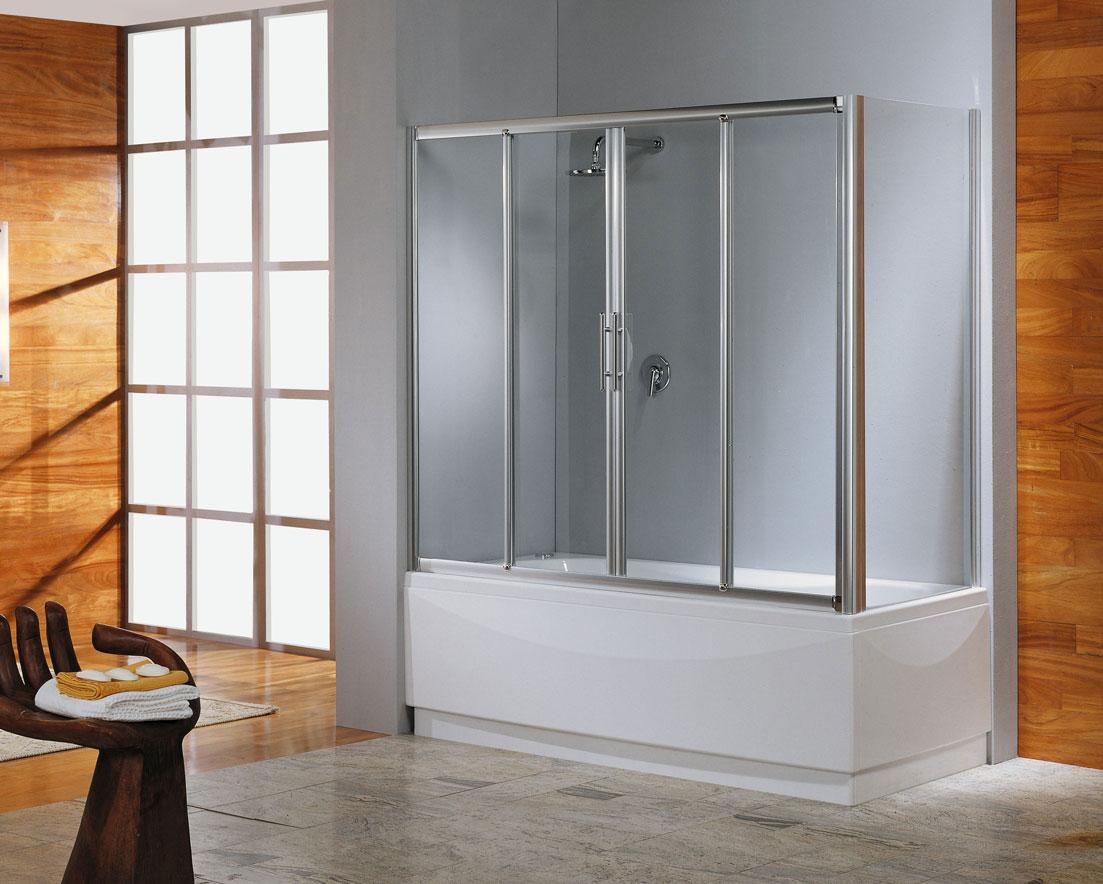 Современная стеклянная шторка в ванной