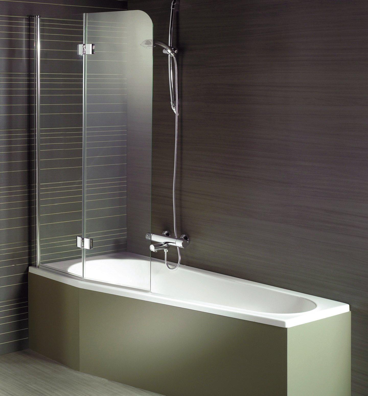 Двухсекционная небольшая шторка в ванной