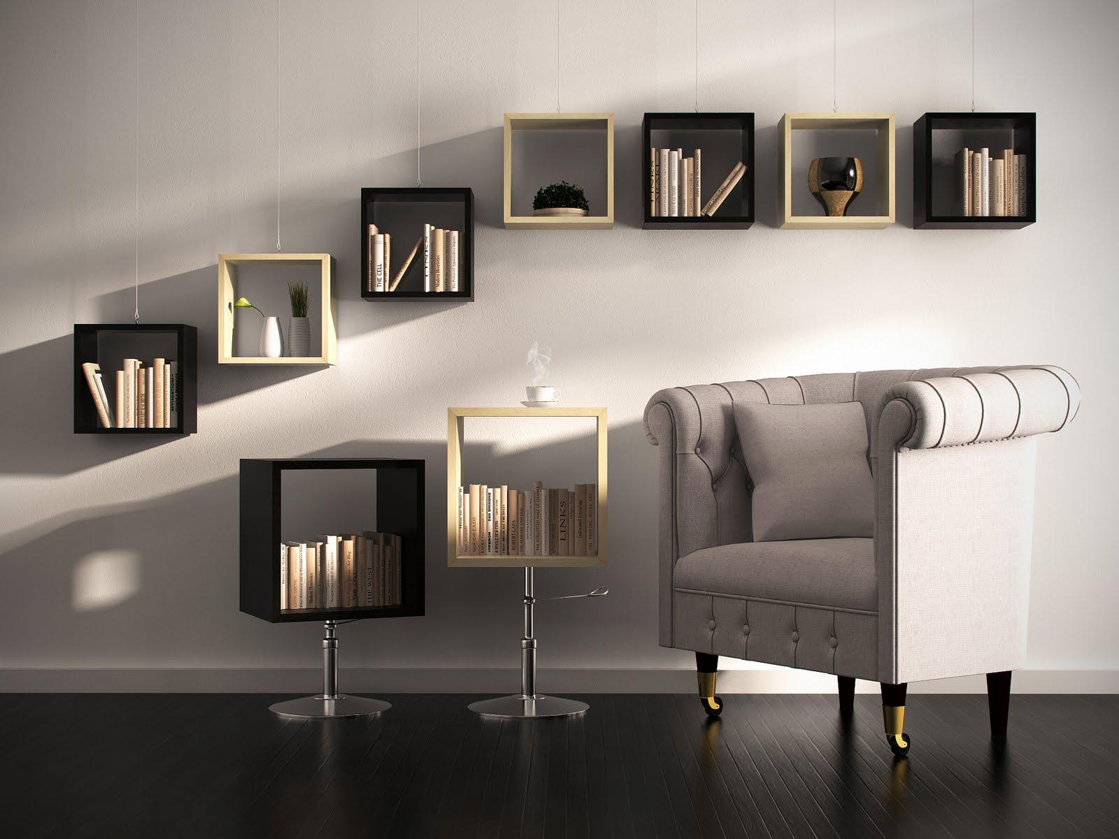 Стеллаж в комнате (108 фото): зонирование и украшение интерьера