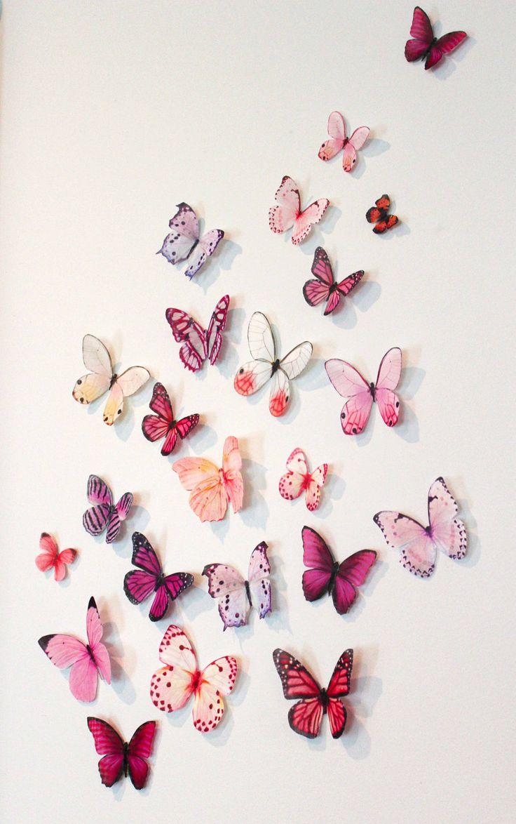 Бабочки для декора стены