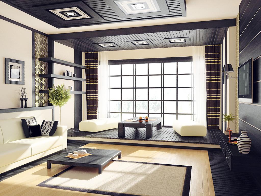 Японский стиль  мебели в интерьере
