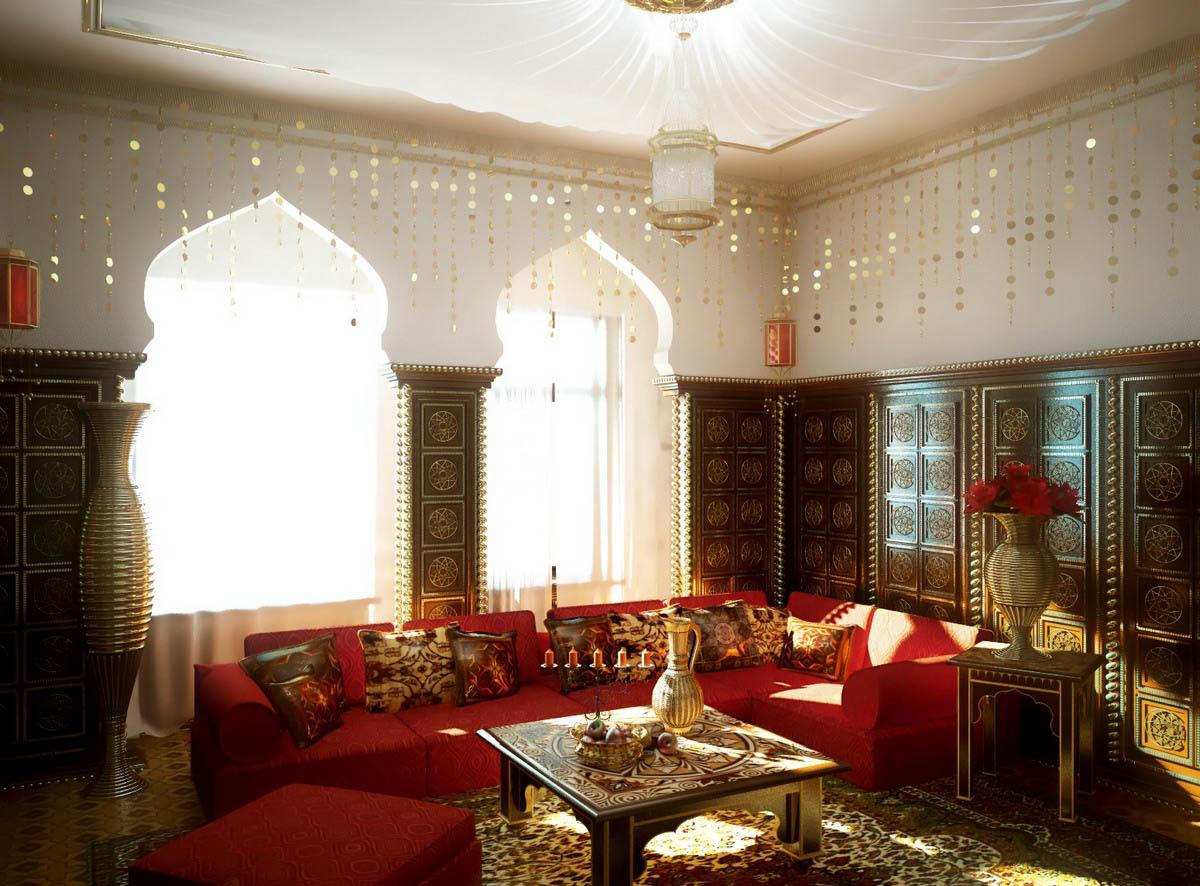 Арабский стиль  мебели в интерьере