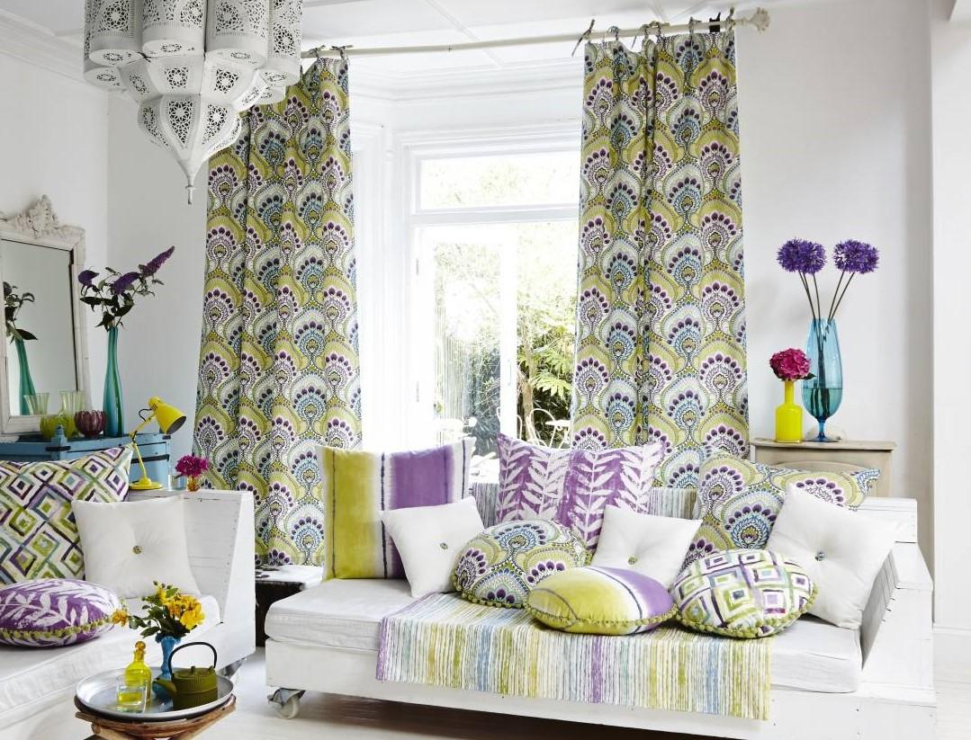 Красочные шторы в стиле бохо