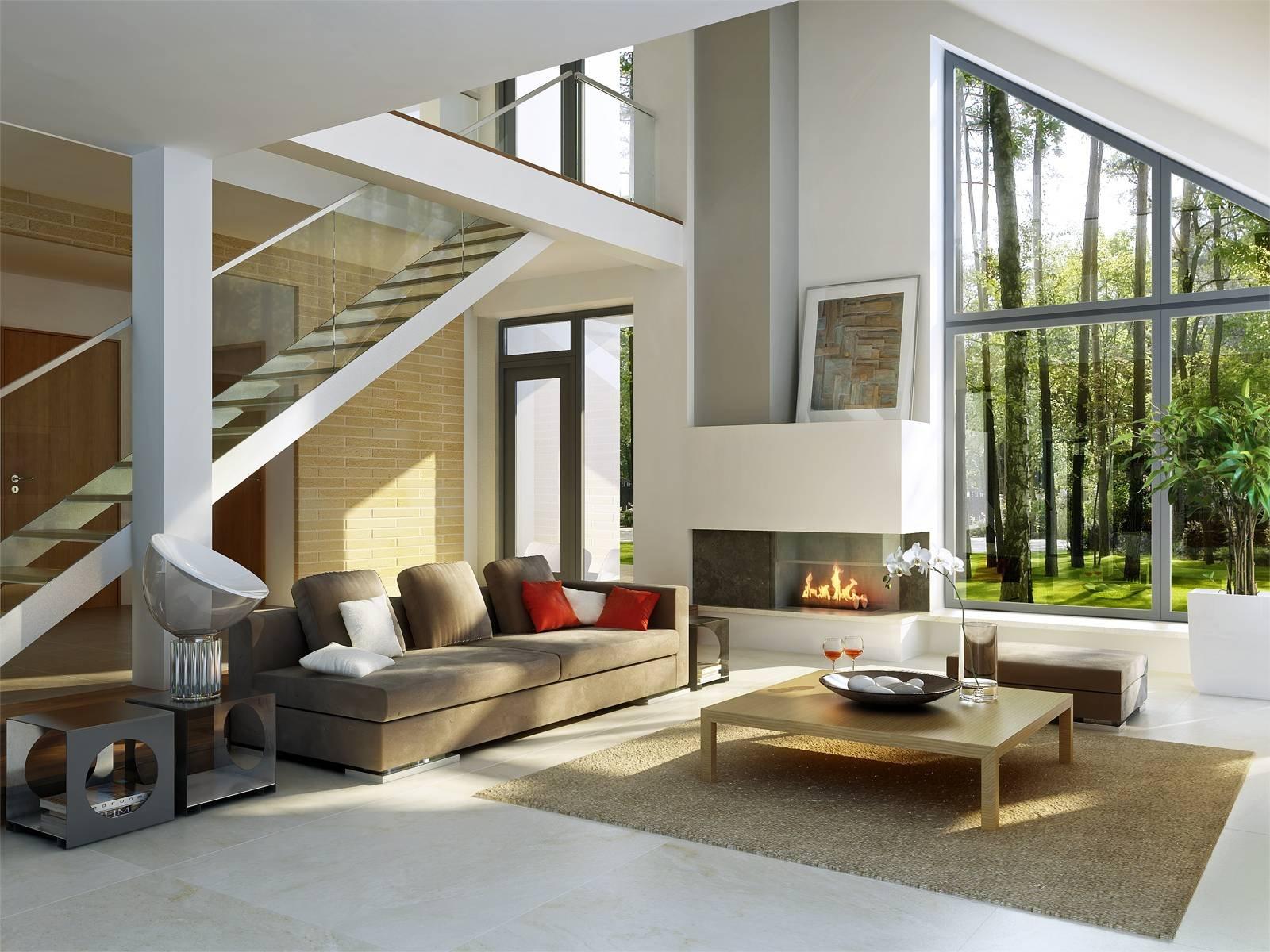 Интерьер дома в стиле хай-тек