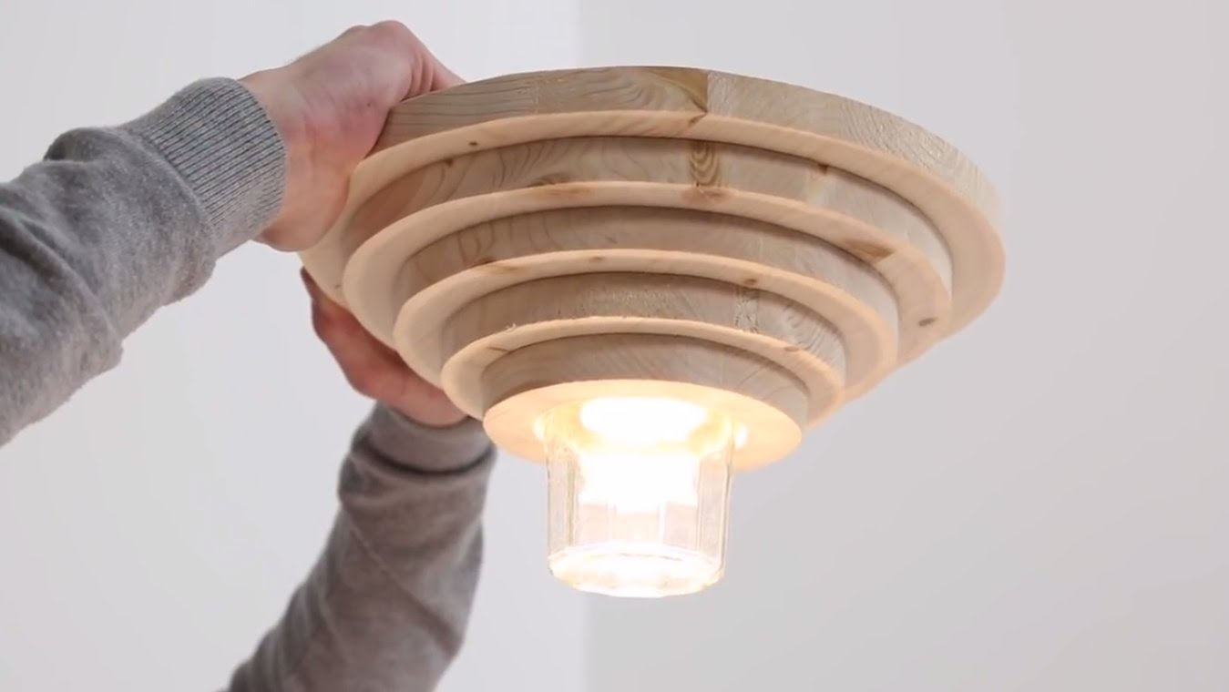 Дизайнерская деревянная люстра